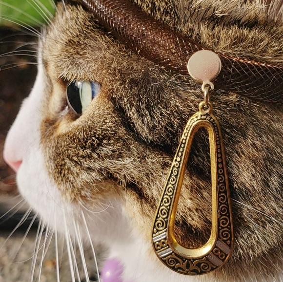 Vintage Toledo Damascene Hoop Earrings
